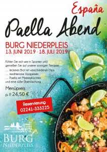 Paella Abend auf Burg Niederpleis